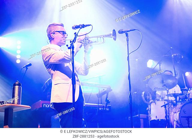 """Brooklyn, NY â. """" 7 June 2017. Brooklyn-based Lake Street Dive opened the 2017 season of the BRIC Celebrate Brooklyn! Festival at the Prospect Park Bandshell to..."""