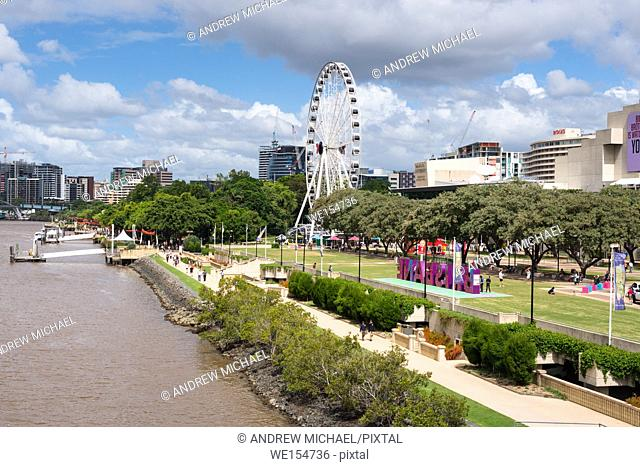 South Bank Parklands are located at South Bank in Brisbane, Queensland, Australia