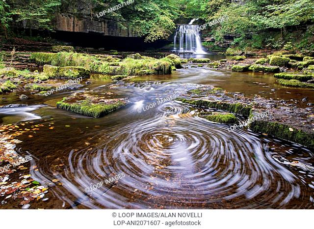 West Burton Falls also known as Cauldron Falls in the Yorkshire Dales