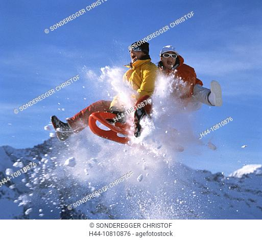 Piz Bernina, bobsleigh, cheering, Engadin, fresh, Grisons, Graubunden, happiness, joy, Jump, jump, luck, Piz Mortera