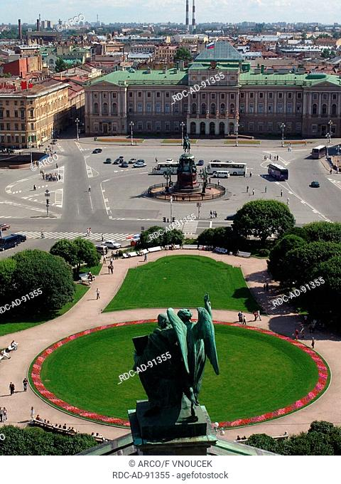 View from the St Isaac's Cathedral Saint Petersburg Russia