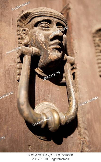 Knocker of a house in city center, Oaxaca, Mexico, Central America