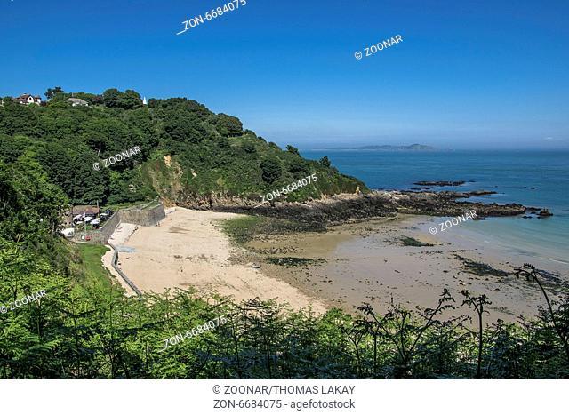 Küstenpfad Fermain Bay nach Jerbourg, Guernsey Coastal path from Fermain bay to Jerbourg, Guernsey