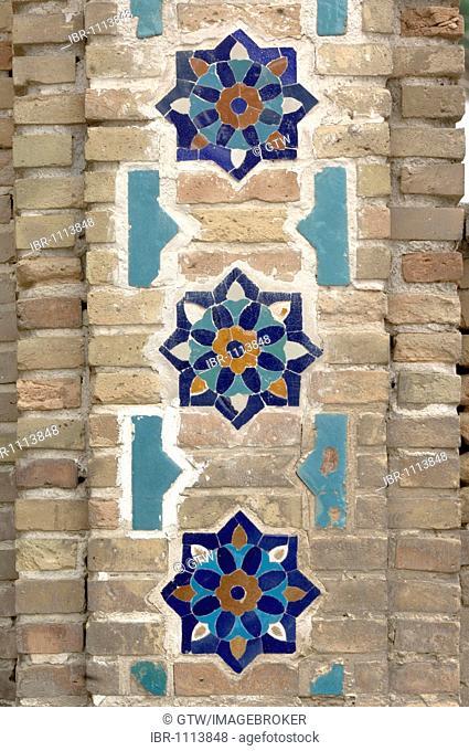 Guri Amir Mausoleum, mosaics, Samarkand, UNESCO World Heritage Site, Uzbekistan