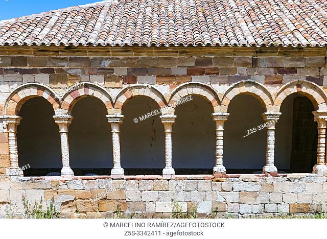 Detail. The Church of San Bartolomé is a Romanesque Catholic temple, currently museum, located in the town of Atienza, Guadalajara, Castilla La Mancha, Spain