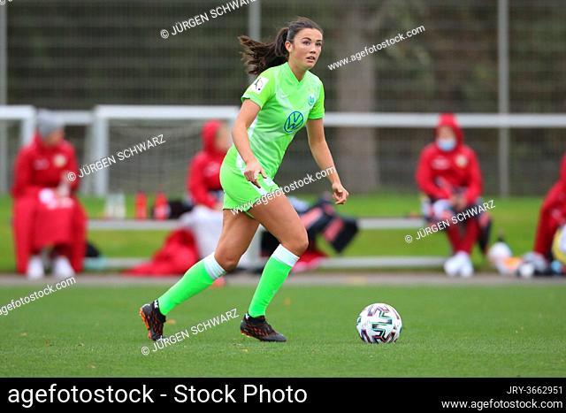 Leverkusen, Germany, 04.10.2020, Women Bundesliga, matchday 4, Bayer 04 Leverkusen - VfL Wolfsburg, Ingrid Syrstad Engen (Wolfsburg)   (Foto: Juergen Schwarz)
