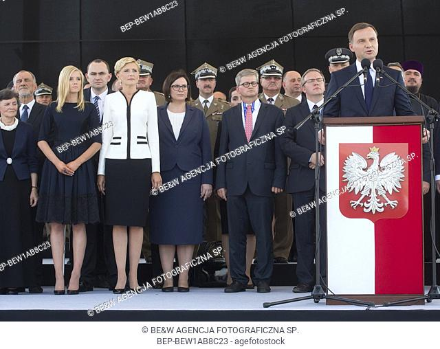 Aug. 6, 2015 Warsaw, presidential inauguration in Poland: Andrzej Duda sworn in as new Polish president. Ceremony at the Marshal Jozef Pi³sudski Square -...