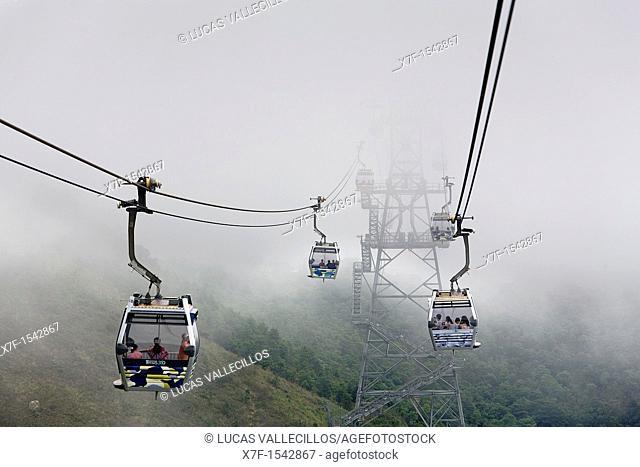Cable car from Tung Chung to Po Lin Monastery  Lantau Island,Hong Kong, China