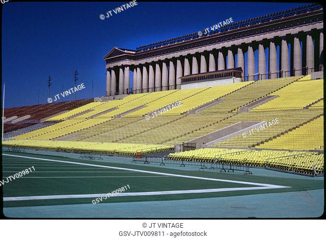 Field View, Soldier Field, Chicago, Illinois, USA, 1972