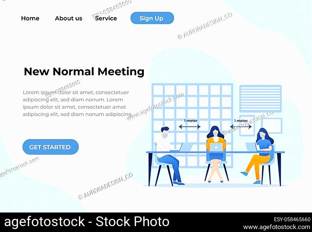 Landing page template. Easy to edit and customize. Vector illustration