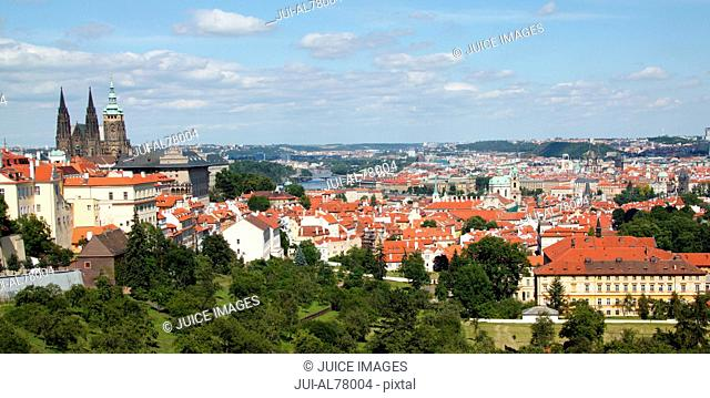 View of entire city of Prague