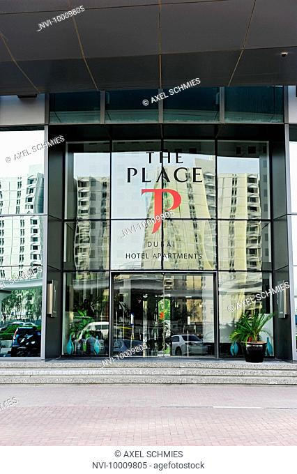 Facade, new luxury hotel THE PLACE, Sheikh Zayed Road, Al Satwa, Dubai, United Arab Emirates, Middle East