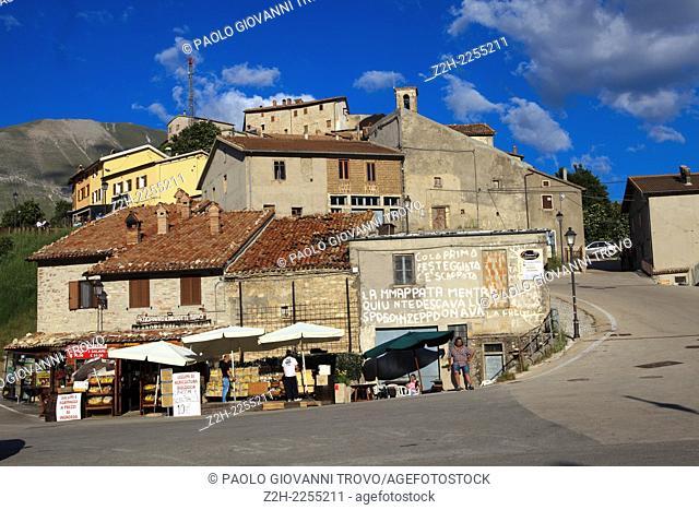 Castelluccio di Norcia, Highland of Castelluccio di Norcia, Norcia, Umbria, Italy, Europe