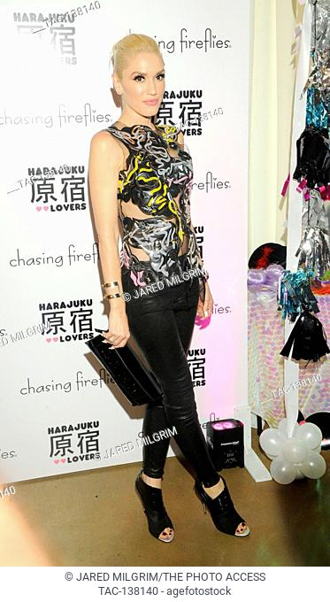 Singer Gwen Stefani attends the Gwen Stefani x Chasing Fireflies event on September 24th, 2015 in Los Angeles, California