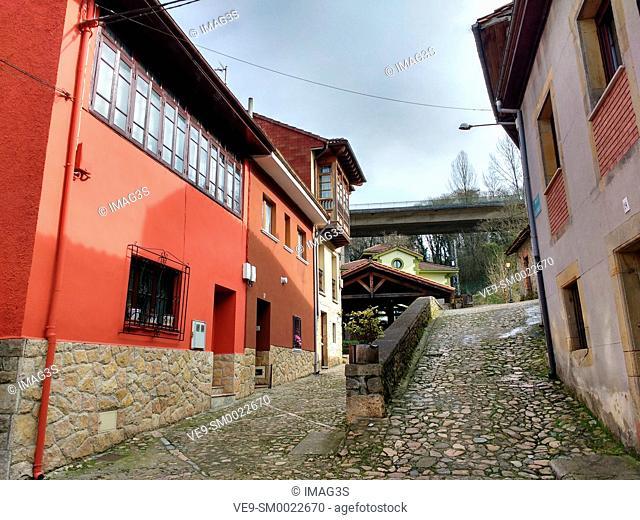 Los Caños street, Infiesto, Piloña municipality, Asturias, Spain
