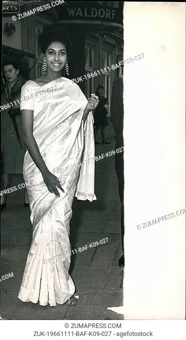 Nov. 11, 1966 - Miss World Goes to the Mansion House.: Miss India -23-year old Reita Faria, who was crowned Miss World at the Lyceum ballroom in London last...