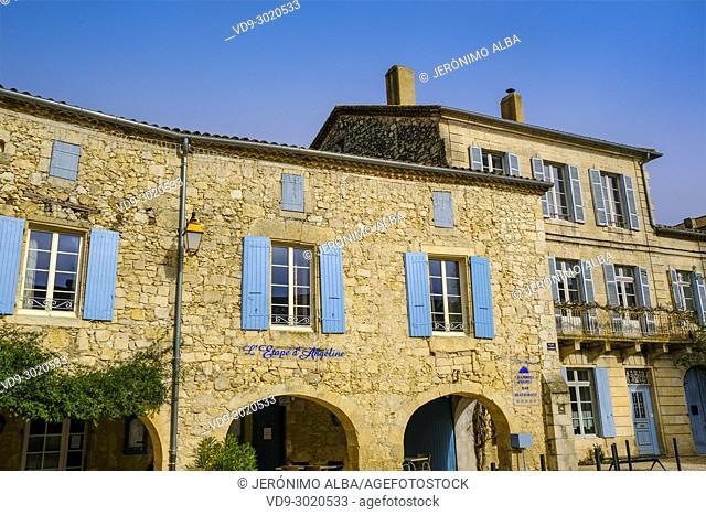 Village of La Romieu on the way of Saint Jacques de Compostelle. Le Gers Department, New Aquitaine, Midi Pyerenees. France Europe