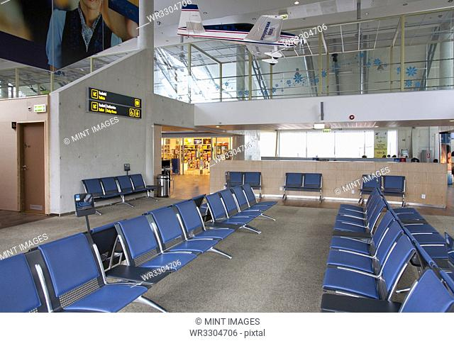 Sitting area in empty airport