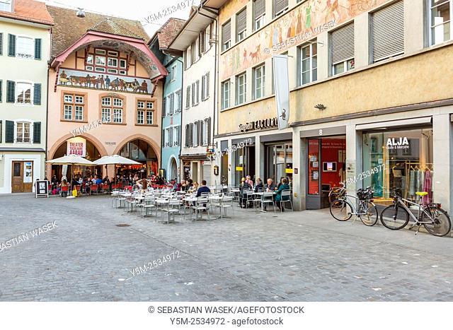 Old town Aarau, Canton Aargau, Switzerland