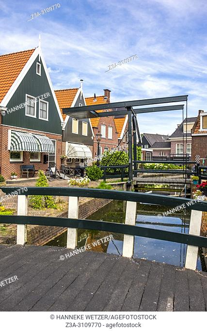 Streets of Volendam, North-Holland, the Netherlands, Europe