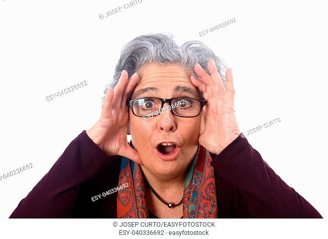an older woman who has a surprise