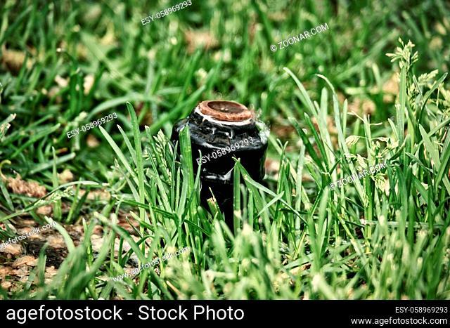 Lawn sprinkler head in grass is not working
