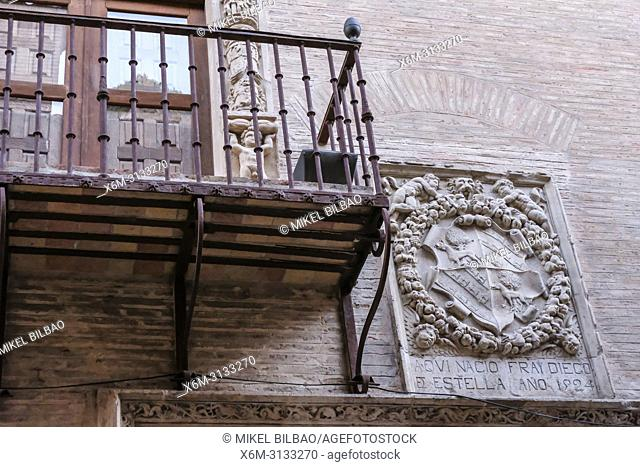 Fray Diego de Estella house. Rua street. Estella. Navarre, Spain, Europe