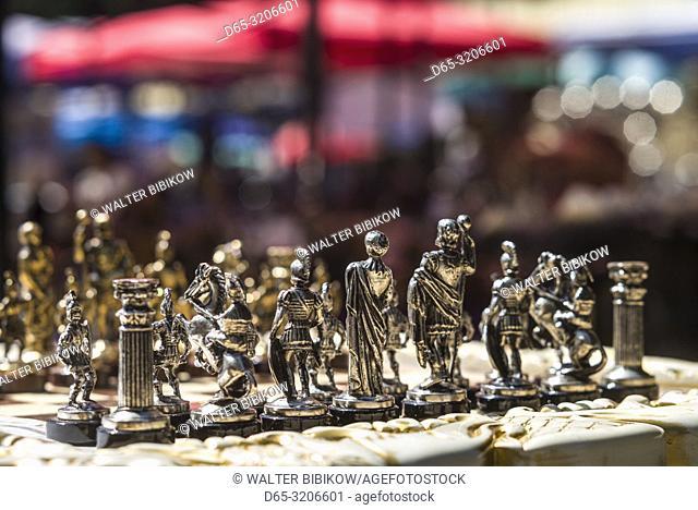 Armenia, Yerevan, Vernissage Market, chess set