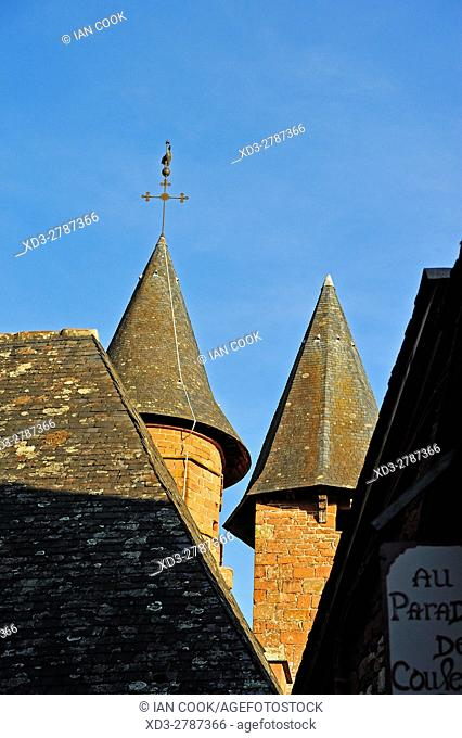 Eglise Saint-Pierre, Collonges-la-Rouge, Correze Department, Limosin, France