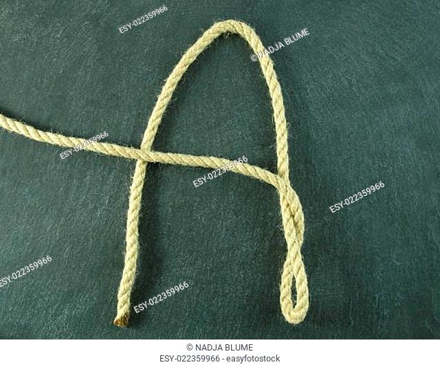an A of rope