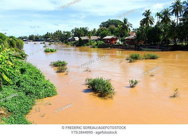 Mekong river,Four thousand island,South Laos,Southeast Asia