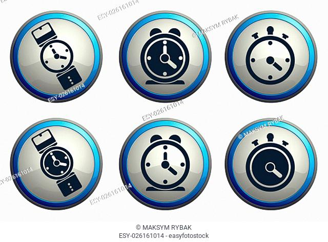 Clock icon for web sites and user interface