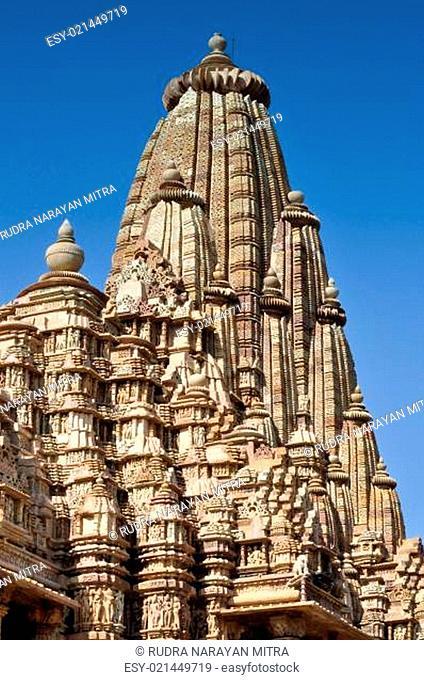 Top of Kandariya Mahadeva Temple, Khajuraho, India, UNESCO site