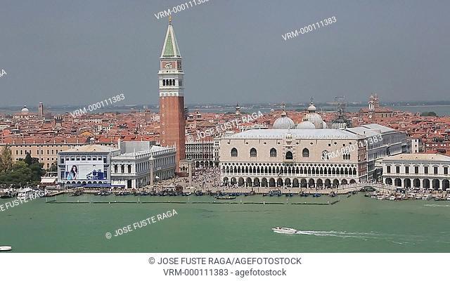 Italy , Venezia City ,the Gran canal , Campanile , San Marco Square