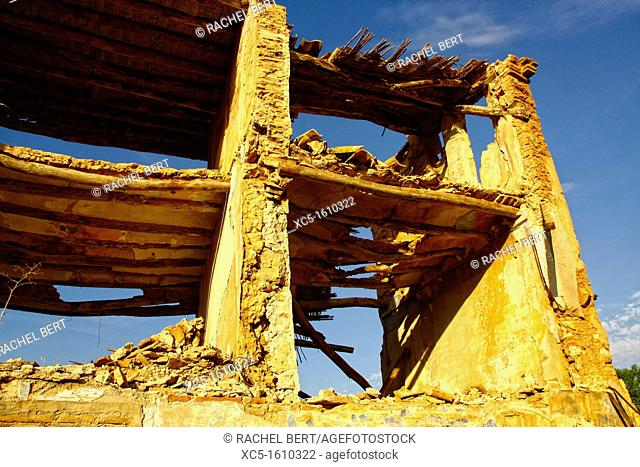 Belchite Old Town  Ruins of the Spanish Civil War 1936-1939  Zaragoza, Aragon, Spain