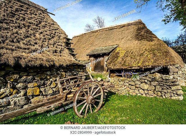 La Ferme des Freres Perrel ecomuseum in Moudeyres village in Haute-Loire, Auvergne-Rhone-Alpes, France, Europe