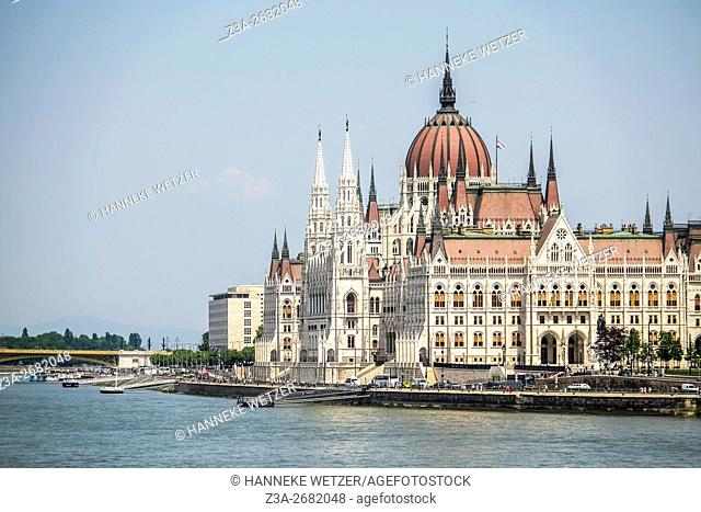 View at the Hungarian Parliament Building in Budapest, Hungary