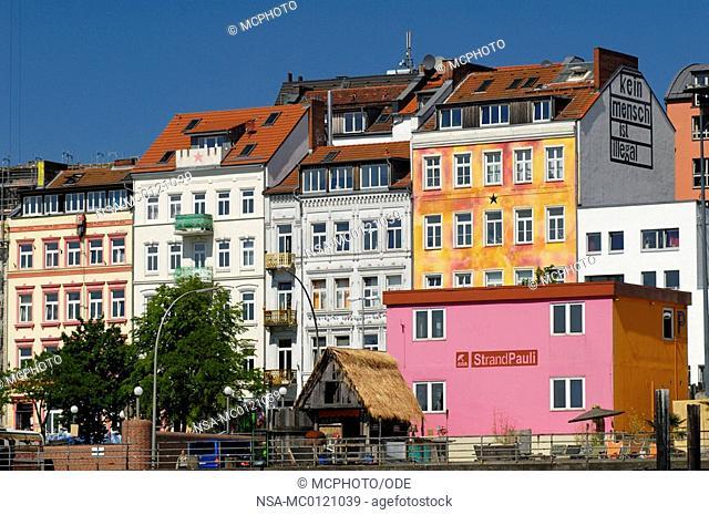 habour street St. Pauli in Hamburg