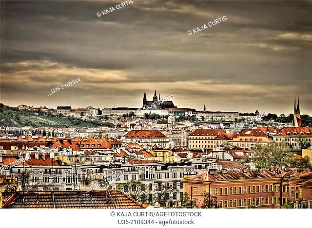 View of Hradcany, Prague, Czech Republic
