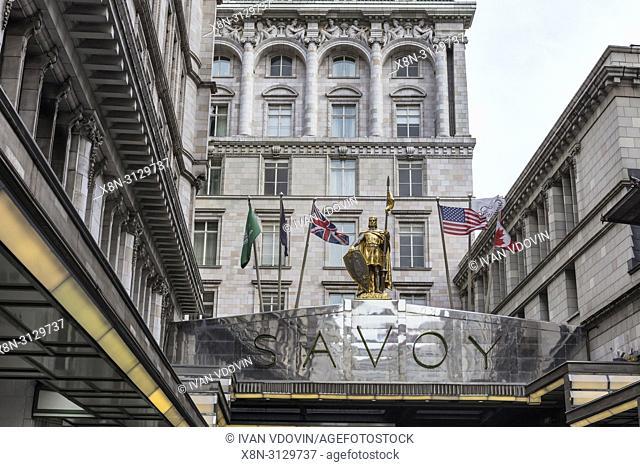 The Savoy hotel, Strand, London, England, UK