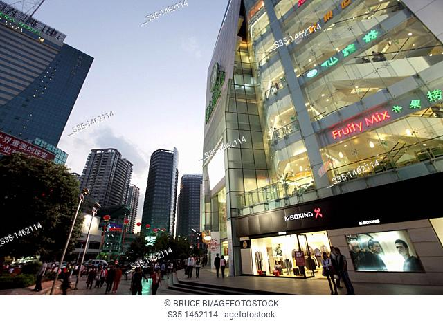 Newly opened New World-Sinobright shopping center  Kunming  China