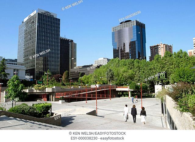 AZCA district. Madrid. Spain