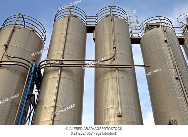 chemical industrial facility, Baix Llobregat, Catalonia, Spain