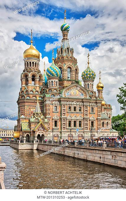 Church of the Savior on Spilled Blood, Griboedov Canal, Saint Petersburg, Russia
