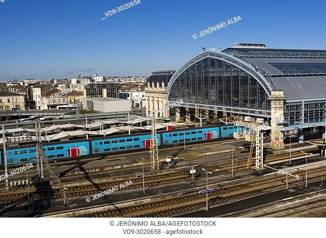 Saint Jean Railway station at Bordeaux, Gironde, New Aquitaine, France