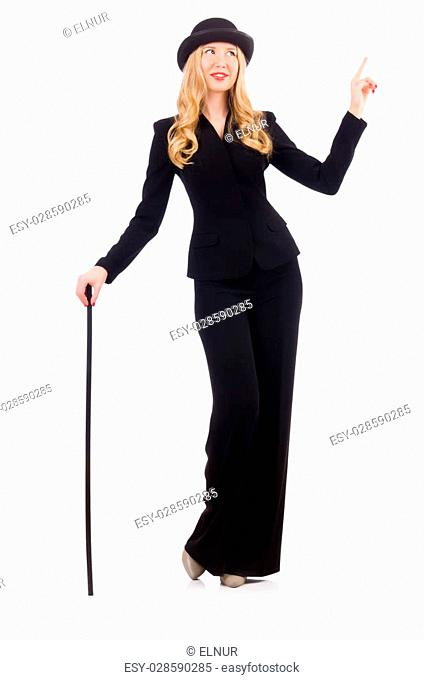 ecb50badf2591 Suit walking cane bowler hat Stock Photos and Images | age fotostock