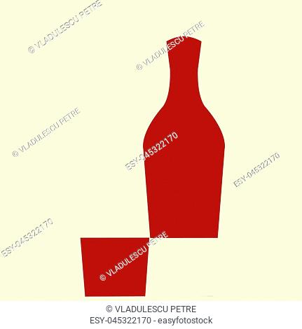 Mathematics with alcohol. A full wine bottle minus a full wine glass( from the bottom of the bottle) is equal with a full wine bottle