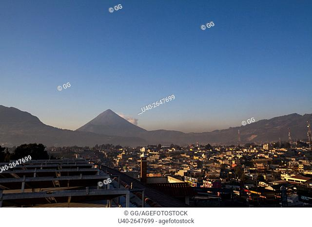 Guatemala, Quetzaltenango, early morning city view