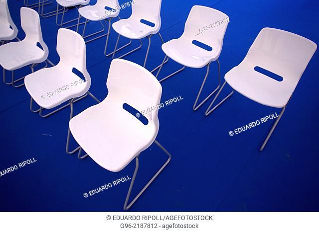 white chairs