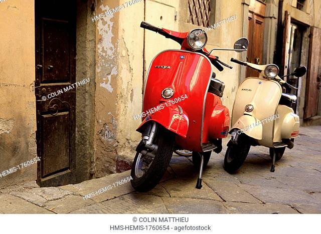 Italy, Tuscany, Arezzo, vespa